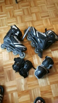 pair of black rollerblades size 12 Mississauga, L5B 1E2