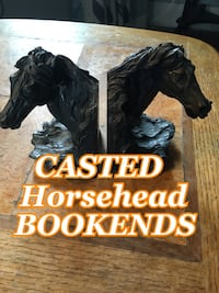 Casted horse head bookends Winthrop, 02152