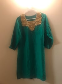 women's green and white floral dress Broadlands, 20148