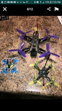 Lot of 3 race drones with flysky remote Bakersfield, 93309