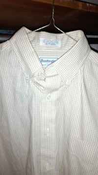 white and gray plaid button-up shirt Theodore, 36582