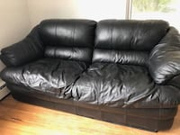 Nice black leather sofa and love seat  Sterling, 20166