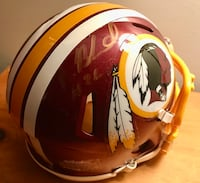 Autographed Redskins Helmet (Mini) Fairfax, 22033