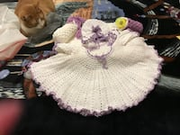 white and purple knit shirt, cap, and shoes Puyallup, 98373