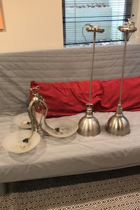 Chandelier and or pendant lights or borh $25 per item.  OBO Silver Spring, 20902