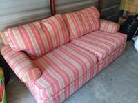 red and white striped fabric sofa Florence, 29505
