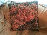 pink and gray floral fringe throw pillow Fredericton, E3B 2C6