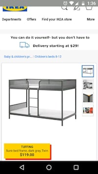 black metal bunk bed screenshot San Jose, 95132