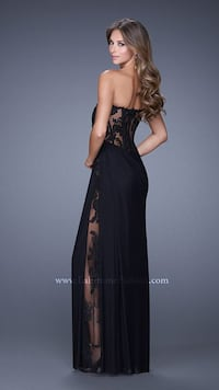 women's black laser-cut floral tube-type maxi dress Edmonton, T5N