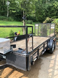 black and gray utility trailer Portersville, 16051