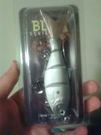 white and brown fishing lure pack