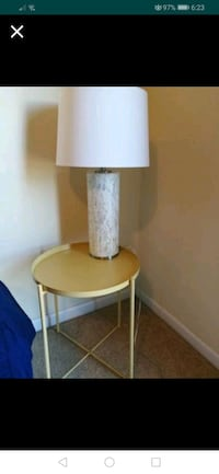 Lamp & nightstand