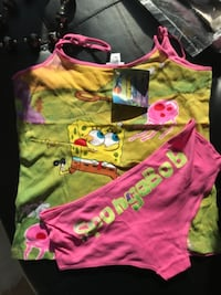 Spongebob tank top and underwear set