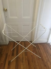 white metal clothes drying rack New York, 10036
