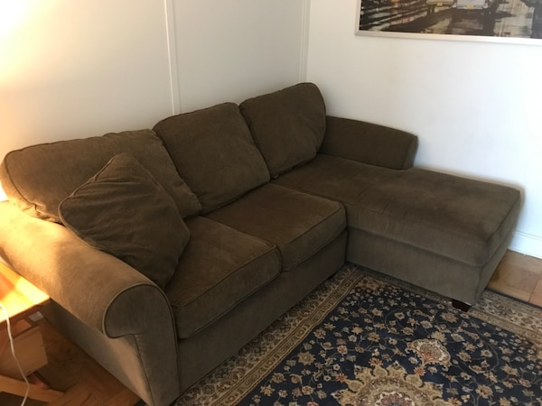 Used Kipling 2 Pc Chenille Sectional Sofa For Sale In New York