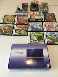 Purple 3DS system with games and cases Winnipeg, R2Y 1S4