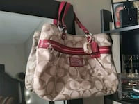 monogrammed brown Coach leather tote bag Calgary, T3C 2P7