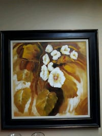 yellow and white petaled flowers painting