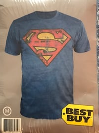 Superman print crew-neck shirt