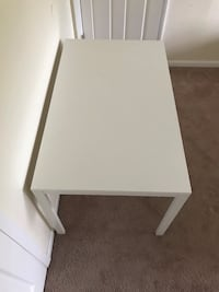 Rectangular white wooden table top and metal legs Ellicott City, 21043