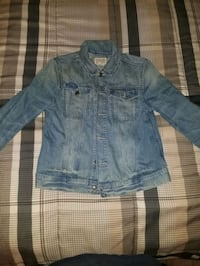 Polo Ralph Lauren Blue Denim Jean Jacket Size Boys Large 14-16