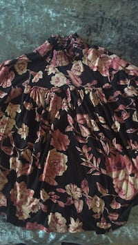 black and pink floral print textile