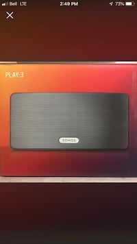 Brand New Black Sonos 3 -Unopened in Box Toronto, M4L 3K1