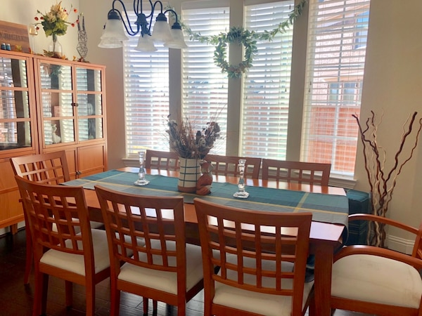 Complete Dining Room Set - Dining Room Table with 8 chairs, 2 China  Cabinets and Serving Table