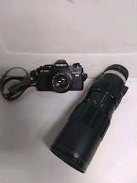 Antique vintage FILM ROLL camera with zoom attachment - NOT DIGITAL!