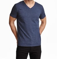 3 V-neck Cotton T-shirts from H&M - Size Smal