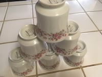 white and pink floral ceramic tea set Fresno, 93722
