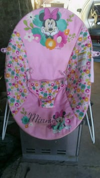 baby's pink and green floral bouncer 1685 mi