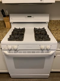 white and black 4-burner gas range oven Falls Church, 22043