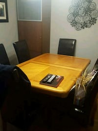 brown wooden table with four chairs Hamilton, L8E 4E4
