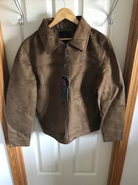Brand New with tags Women's Medium and Large brown leather micro suede jacket Edmonton, T5T 6B1