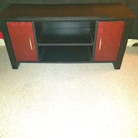 Black TV Stand with red doors Virginia Beach, 23455