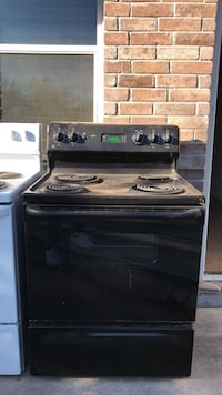 Black and gray 4-burner electric range oven Frisco, 75035