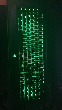 Razor Light Up Green Keyboard