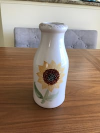 Sunflower milk bottle vase Victoria