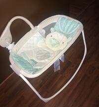 baby's white and teal bouncer Columbus, 43204