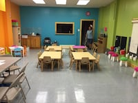 Birch wood adjustable tables for pre-schoolers. Ages 2-5 years old.