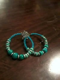 green and silver beaded bracelet Fort Washington, 20744