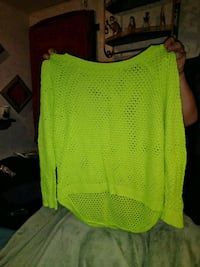 green scoop-neck sweater Lacy Lakeview, 76705