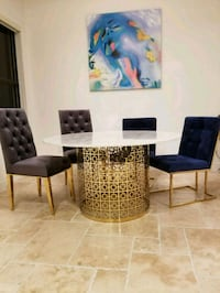 ASIAN inspired dining table and chairs  Doral, 33166