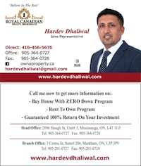 Buy a House with Rent To Own Program* Brampton