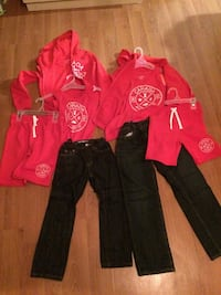 red and black zip-up jacket and pants Windsor, N8W 4V8