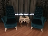 Decorative chairs and coffee tables