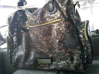 black and brown snakeskin leather tote bag Alamo Heights, 78209