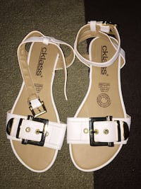 Women's White Strap Sandals size 7