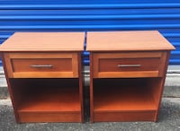 Pair Beautiful Nightstands easy glide drawers USA- end side tables night stands - $100  Jacksonville, 32257